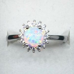 Accessories - WHITE FIRE OPAL AND AAAA CZ STOⁿ∅!~~NES IN A *_$_?